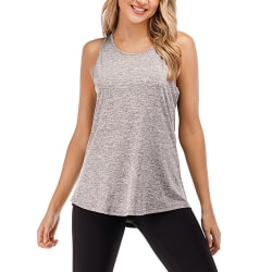 Kvinnor Ärmlös Väst Yoga Sport Gym Top Plain Shirt