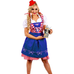 Kvinnors Oktoberfest tyska bayerska ölmaid Cosplay-klänning Blue 34