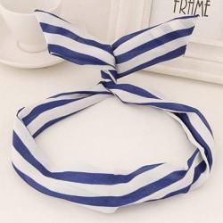 Hårband Pinup Randigt mörkblå