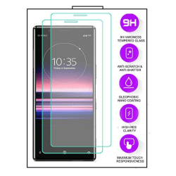 2-Pack Sony Xperia 10 II - Härdat Glas Tempered Glass Transparent