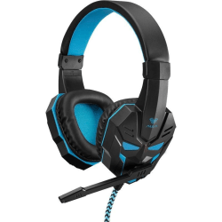 Gaming Headset Hörlurar AULA Prime Stereo Basic - Svart/Blå Svart