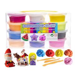 12-Pack Mjuk och Stretchy Bouncing Clay / Fluffy Slime multifärg