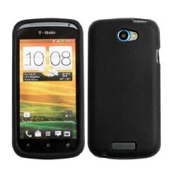HTC One S - Gel Skal Svart + Displayskydd Svart