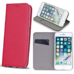 LG K10 2018 Smart Carbon Fodral Mobilplånbok - Rosa Pink