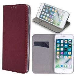 LG K20 (2019) - Smart Magnetic Mobilplånbok - Vinröd WineRed