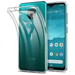 Nokia 7.2 / Nokia 6.2 - Transparent Slim Skal + Härdat Glas Transparent
