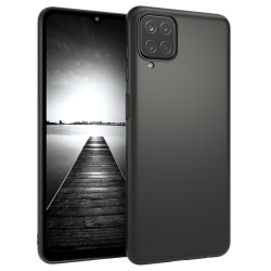 Samsung Galaxy A12 - Matt TPU Mjuk Skal - Svart Svart