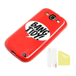 Samsung Galaxy S3 JELLi BANG Skydd Skal + Displayskydd Röd