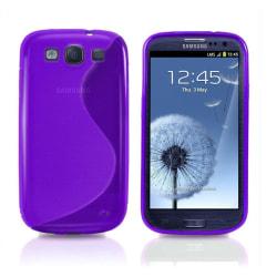 Samsung Galaxy S5 TPU Skal - Transparent Lila Lila