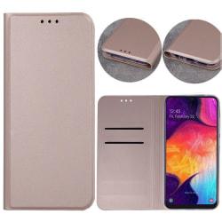 Xiaomi Redmi 9A - Smart Skin Mobilplånbok - Roseguld Rosa guld