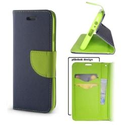 Xiaomi Redmi Note 8 Pro - Smart Fancy Mobilplånbok Marinblå/grön Blue