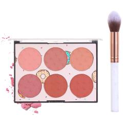 6 färger 6 färger Face Blush Palette Flame Brushes BLUSH KIT blush kit