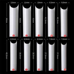 C Curve False Nail Tips Extra Long 500PCS-NATURAL