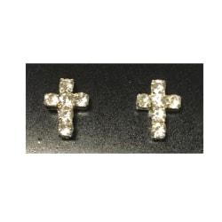 Magnet Kors örhängen med stenar (kors) silver