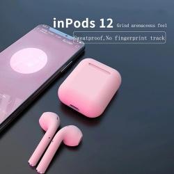 i12 TWS Trådlösa trådlösa hörlurar för alla Bluetooth V5.0  Rosa