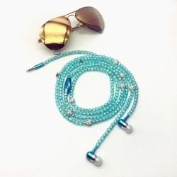 Smycken Pärlhalsband Hörlurar Mobiltelefontillbehör Blå