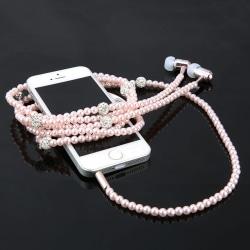Smycken Pärlhalsband Hörlurar  Mobiltelefontillbehör Rosa