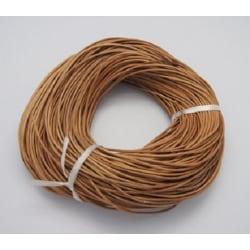 *3 meter  naturfärgad läderrem  3 mm. tjock