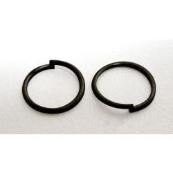 10 gr. (drygt 220 st) Svarta 6 mm. motringar