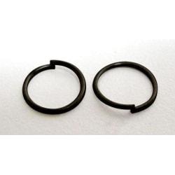 10 gr (Drygt 230 st.) Nickelfria Svarta motringar  Ø 6 mm.