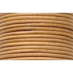 10 meter  naturfärgad läderrem  2 mm. tjock