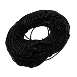 10 meter svartt  läderrem  3 mm. tjock .