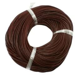 5 mt. chokladbrun läderrem 3 mm. tjock