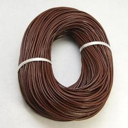 5 mt. Sadelbrun Läderrem 1mm. tjock ,