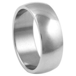 6 mm. bred slät convex ring i 316L stål 19mm i diameter