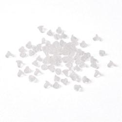 Drygt 150 Pluppar/bakstycke till  örhängen i nickelfri latex