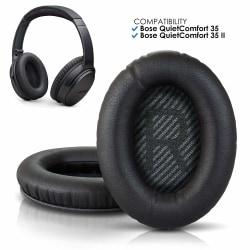 Bose Quiet Comfort 35 - QC35 Kompatibla Öronkuddar Svart