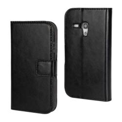 Samsung Galaxy S3 Mini Fodral/Skydd/Plånbok i Läder (SVART) svart