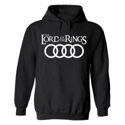 Audi Lord Of The Rings - Hoodie / Tröja - DAM Svart - 2XL