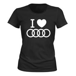 Audi - T-SHIRT - DAM svart M