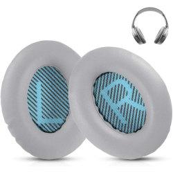 Bose Quiet Comfort 35 - QC35 - Blå Kompatibla Öronkuddar Grå