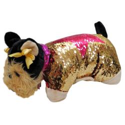 Doggie Star Yorkshire sequins plush cushion