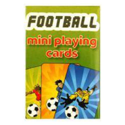 FOOTBALL MINI PLAYING CARDS 4 x 6 cm
