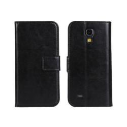 Galaxy S4 Mini Fodral/Plånbok i Läder (SVART) svart