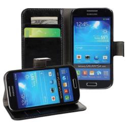Samsung Galaxy S4 Fodral/Plånbok i Läder (SVART) svart