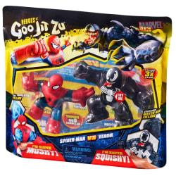 Heroes Goo Jit Zu Marvel Spiderman and Venom pack 2 figures
