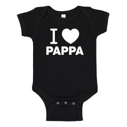 Jag Älskar Pappa - Baby Body svart Svart - 12 månader