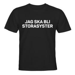 Jag Ska Bli Storasyster - T-SHIRT - BARN svart Svart - 86 / 94