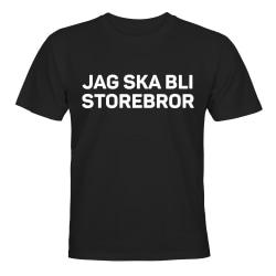 Jag Ska Bli Storebror - T-SHIRT - BARN svart Svart - 86 / 94