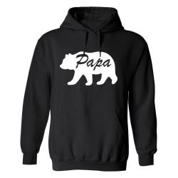 Papa Bear - Hoodie / Tröja - HERR Svart - XL