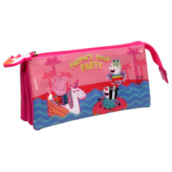 Peppa Pig Pool Party triple pencil case