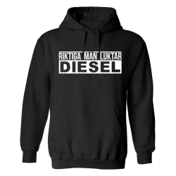 Riktiga Män Luktar Diesel - Hoodie / Tröja - HERR Svart - 3XL