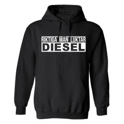 Riktiga Män Luktar Diesel - Hoodie / Tröja - HERR Svart - 4XL
