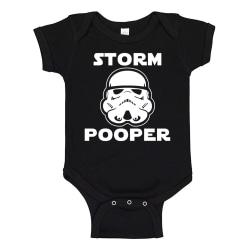 Storm Pooper - Baby Body svart Svart - Nyfödd