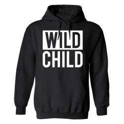 Wild Child - Hoodie / Tröja - HERR Svart - L