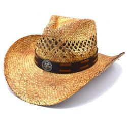 Cowboyhatt Medaljong och brun rem - handgjord hatt   Brun